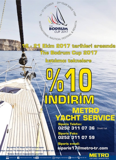 Metro Yacht Service'de %10 indirim